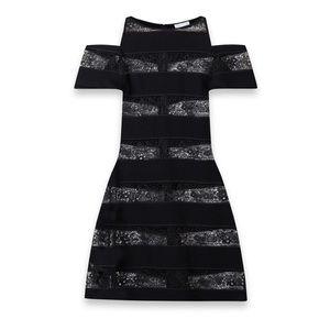 Anne Fontaine Milane Lace Cold Shoulder Dress 44